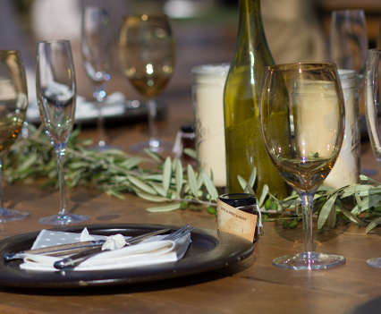 Olives and Vines Farm Table